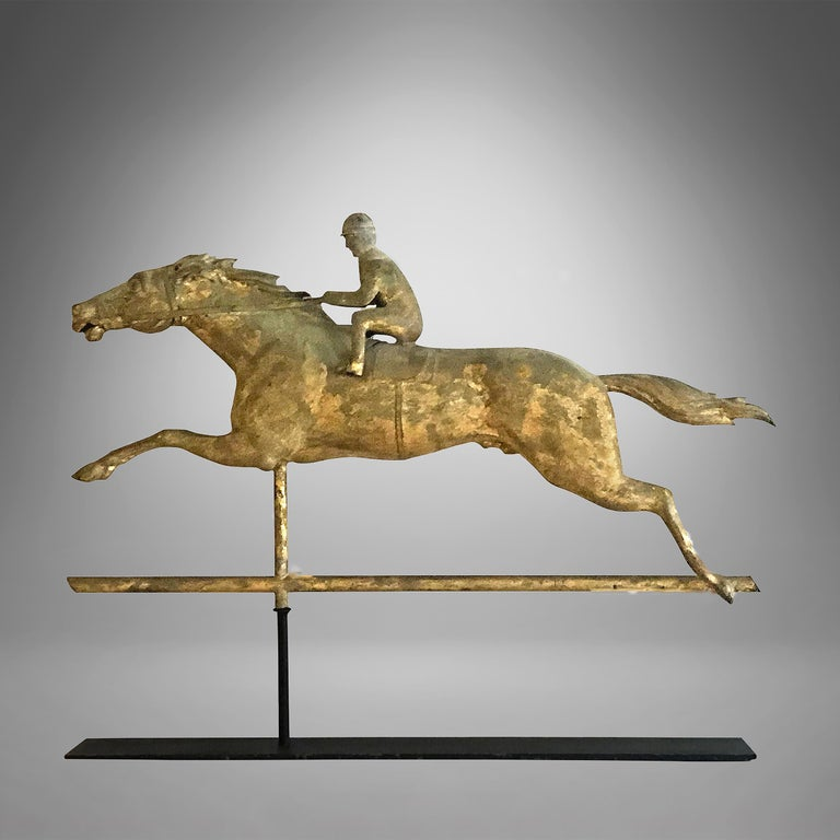 North American Racing Horse and Jockey Weathervane For Sale