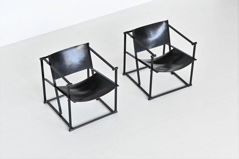 Radboud Van Beekum FM61 Cubic Lounge Chairs Pastoe the Netherlands, 1980 For Sale 3