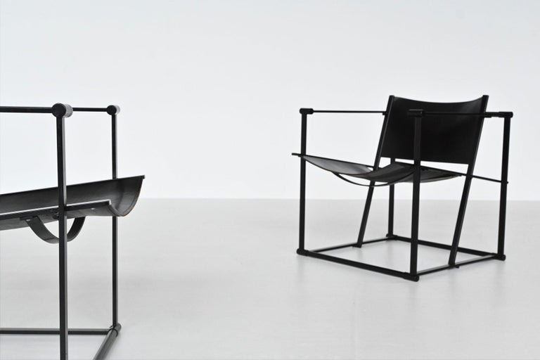 Mid-Century Modern Radboud Van Beekum FM61 Cubic Lounge Chairs Pastoe the Netherlands, 1980 For Sale