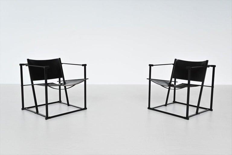 Dutch Radboud Van Beekum FM61 Cubic Lounge Chairs Pastoe the Netherlands, 1980 For Sale