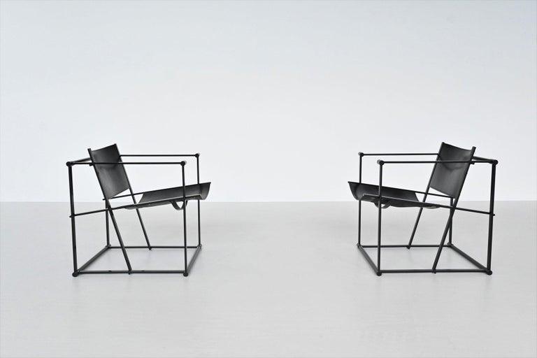 Radboud Van Beekum FM61 Cubic Lounge Chairs Pastoe the Netherlands, 1980 In Good Condition For Sale In Etten-Leur, NL