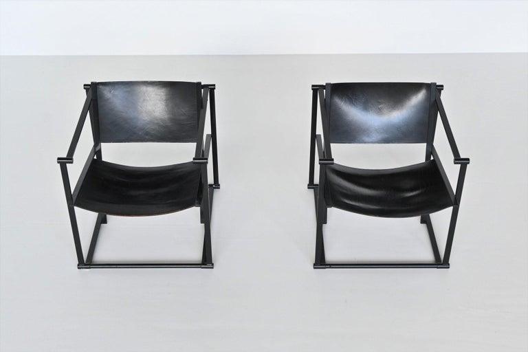 Radboud Van Beekum FM61 Cubic Lounge Chairs Pastoe the Netherlands, 1980 For Sale 1