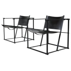 Radboud Van Beekum FM61 Cubic Lounge Chairs Pastoe the Netherlands, 1980