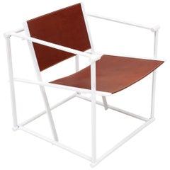 Radboud Van Beekum FM62 Steel & Leather Chair for Pastoe, 1980s