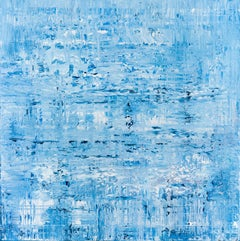 Blue abstract painting BH466, Painting, Acrylic on Canvas