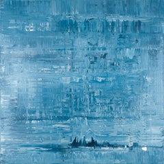 Blue abstract painting BN984, Painting, Acrylic on Canvas