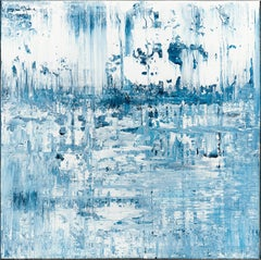 Blue abstract painting BW467, Painting, Acrylic on Canvas