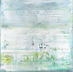 Green abstract painting GM118, Painting, Acrylic on Canvas