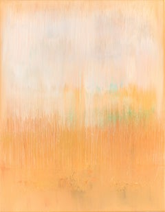 Mustard abstract painting HJ317, Painting, Acrylic on Canvas