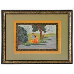 Radha and Krishna Miniature Framed Painting