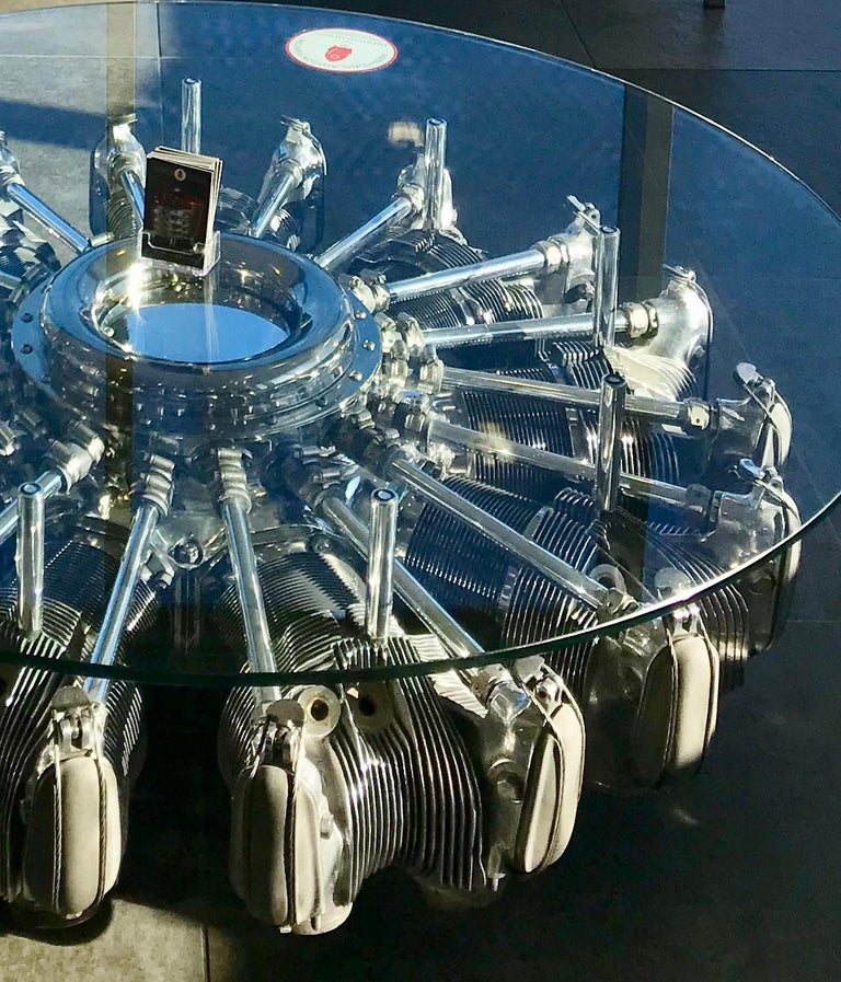 Radial Aircraft Engine Coffee Table For Sale at 1stdibs