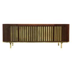 Radial Sideboard in Solid Walnut Wood