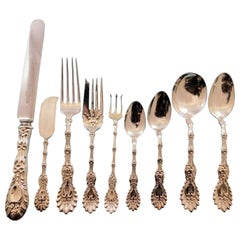 Radiant by Whiting Sterling Silver Flatware Set Dinner for 12 Service 116 Pieces