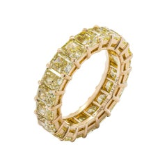 Radiant Cut Anniversary Band in 18K Yellow Gold 7.12ct