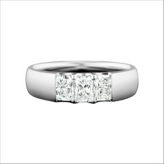 Radiant Cut Diamond Anniversary Ring in 14 Karat White Gold
