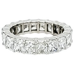 Radiant Cut Diamond Eternity Band Ring