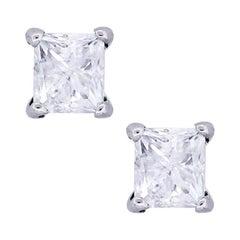 Radiant Cut Diamond Stud Earrings