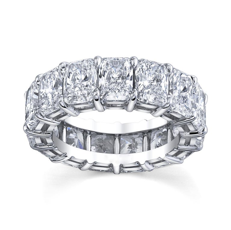 Modern Radiant Cut Diamonds Eternity Band For Sale