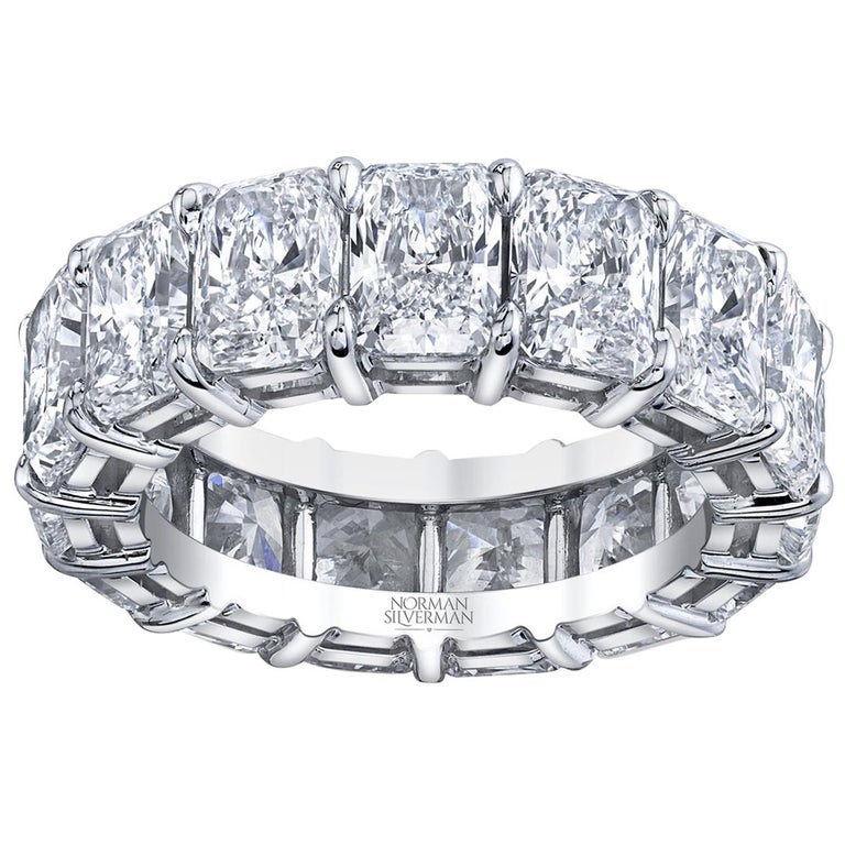 Radiant Cut Diamonds Eternity Band For Sale