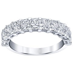 Radiant Cut Diamonds Half Way Eternity Band
