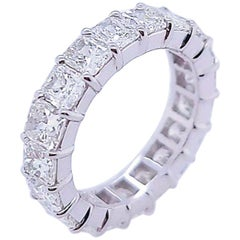 Radiant Cut Diamonds in Platinum Eternity Band