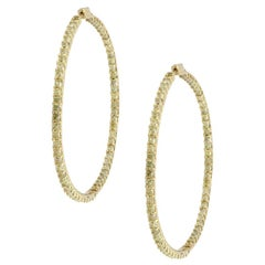 Radiant Diamond Inside Out Extra Large Hoops
