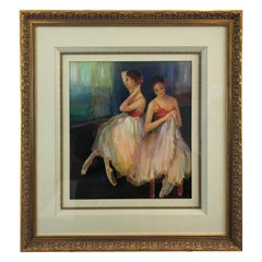 Radiant Pastel of Dancers by Acclaimed Artist Alice Pritchard