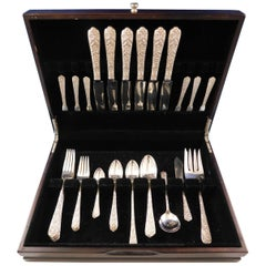 Radiant Rose by International Sterling Silver Flatware Service Set 51 Pcs Dinner