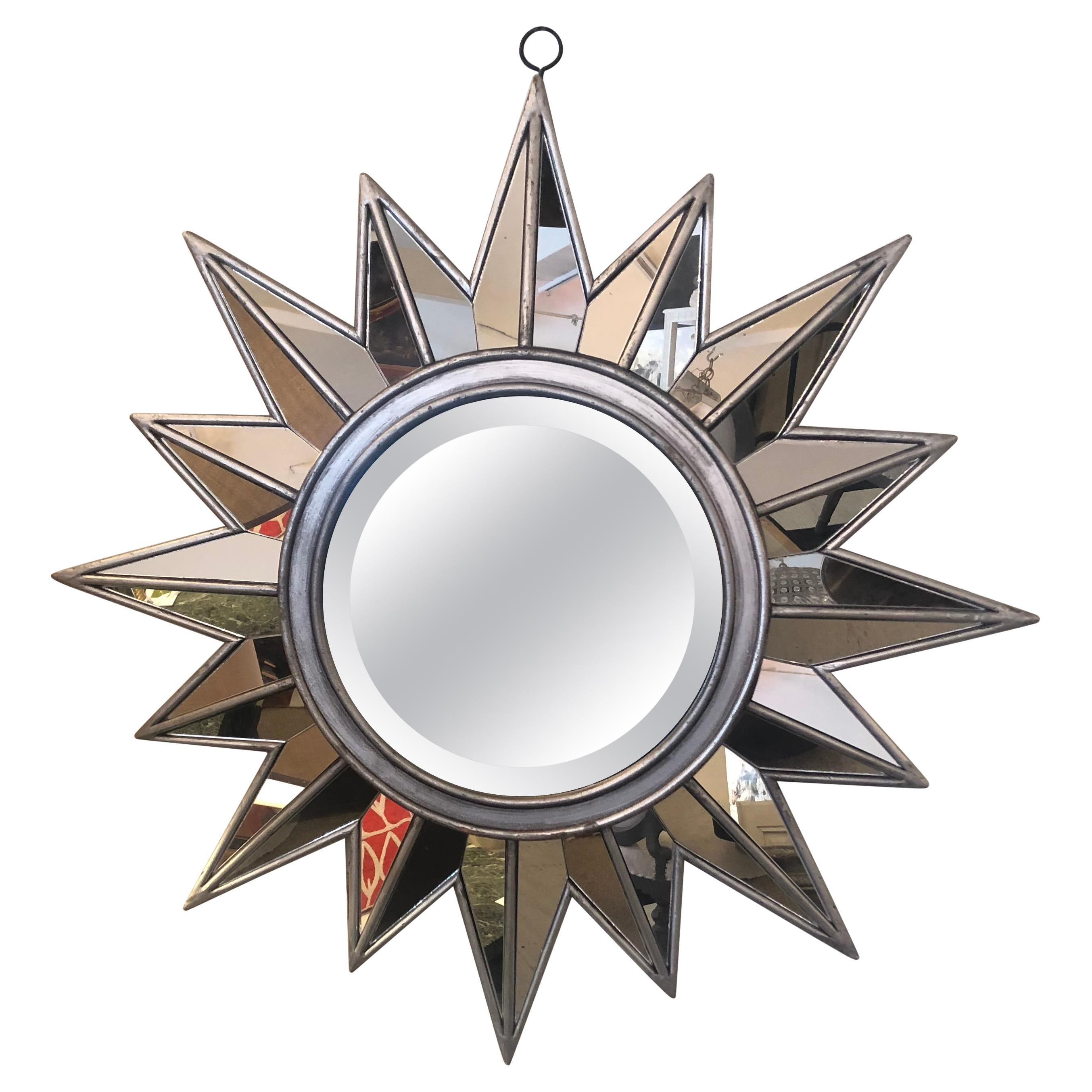 Radiant Sunburst Starburst Bevelled Mirror