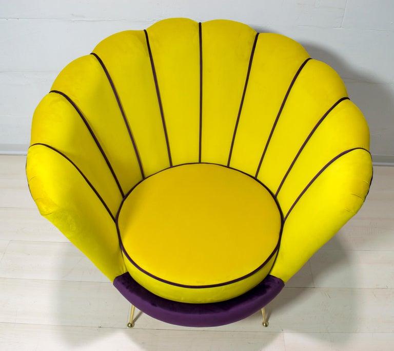 Radice & Minotti Mid-Century Modern Italian Velvet Armchair, 1950s In Excellent Condition For Sale In Cerignola, Italy Puglia