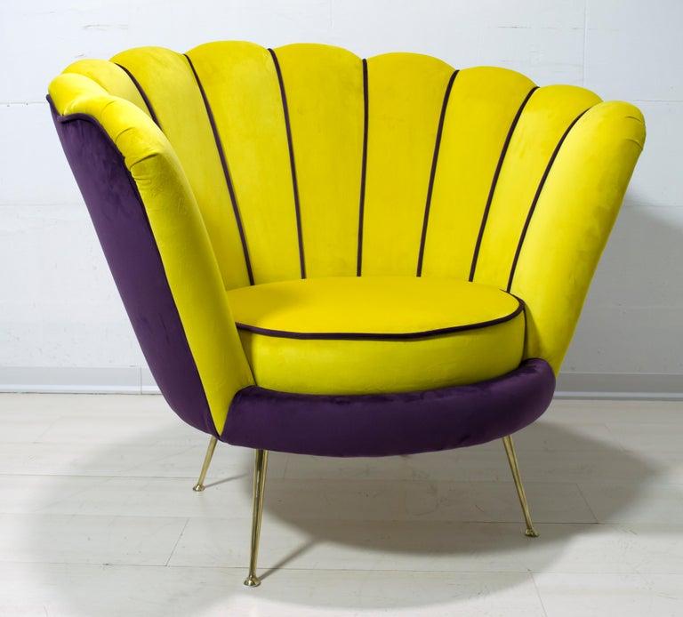 Mid-20th Century Radice & Minotti Mid-Century Modern Italian Velvet Armchair, 1950s For Sale