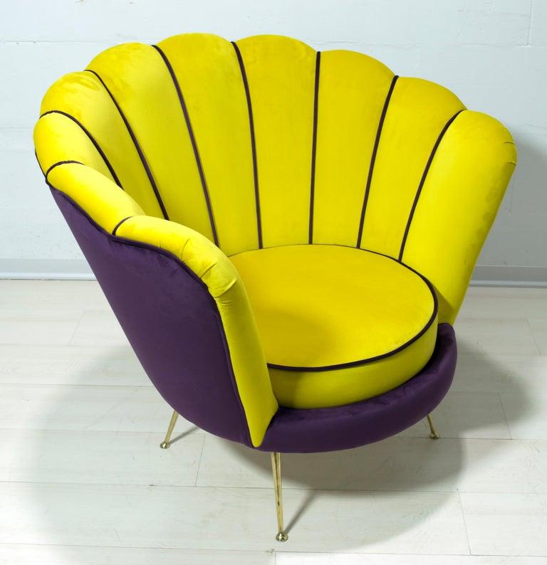 Radice & Minotti Mid-Century Modern Italian Velvet Armchair, 1950s For Sale 1