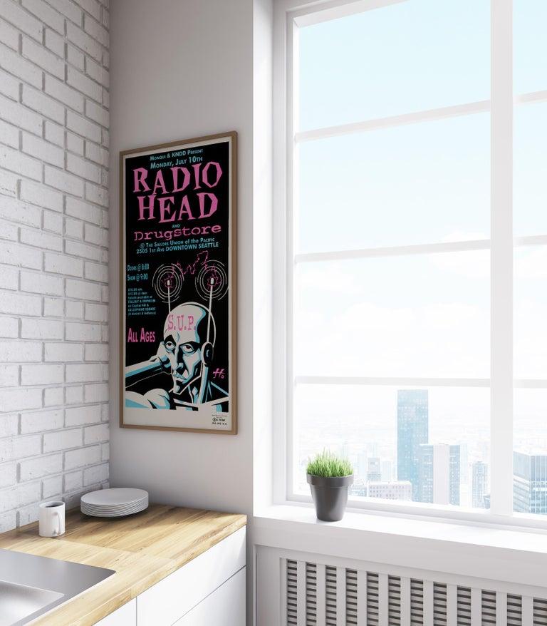 Radiohead Original Vintage Concert Poster, American, 1995 ...