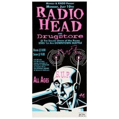 Radiohead Original Vintage Concert Poster, American, 1995
