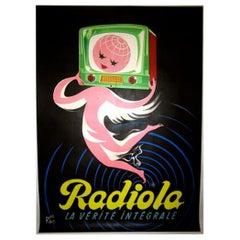 Radiola Pink Original Vintage Poster