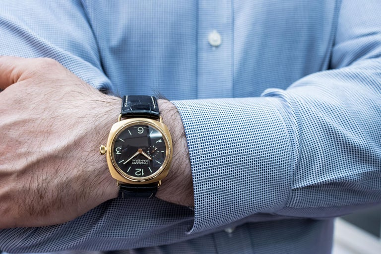 Radiomir Panerai Rose Gold Oro Rosso Mechanical Wristwatch Ref PAM00336 For Sale 3