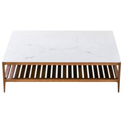 Radius Coffee Table in Walnut by Munson Furniture