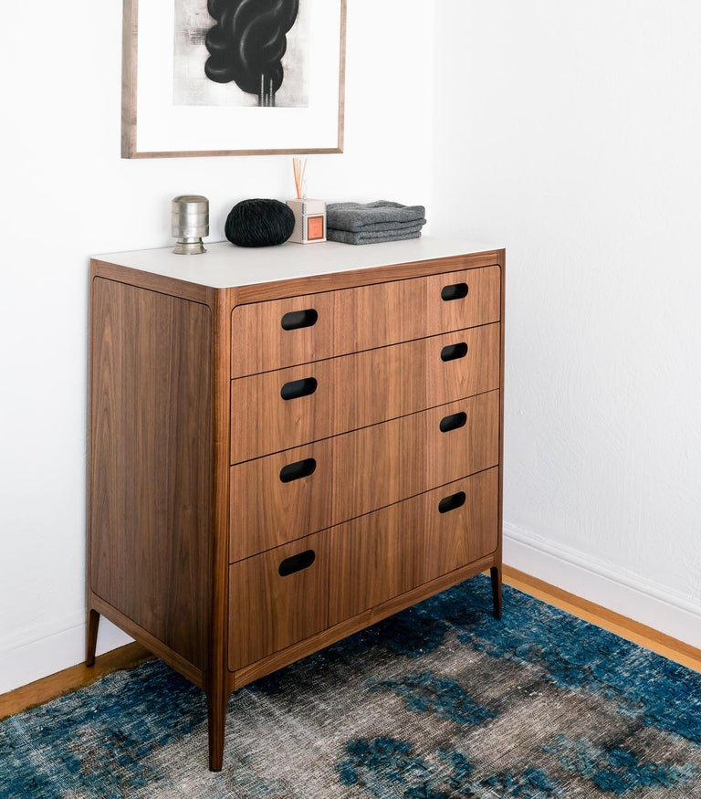American Customizable Four-Drawer Dresser from Munson Furniture in Walnut  For Sale