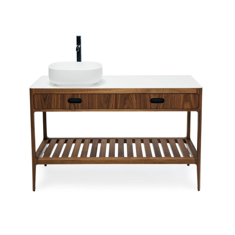 Mid-Century Modern Customizable Freestanding Vanity by Munson Furniture For Sale