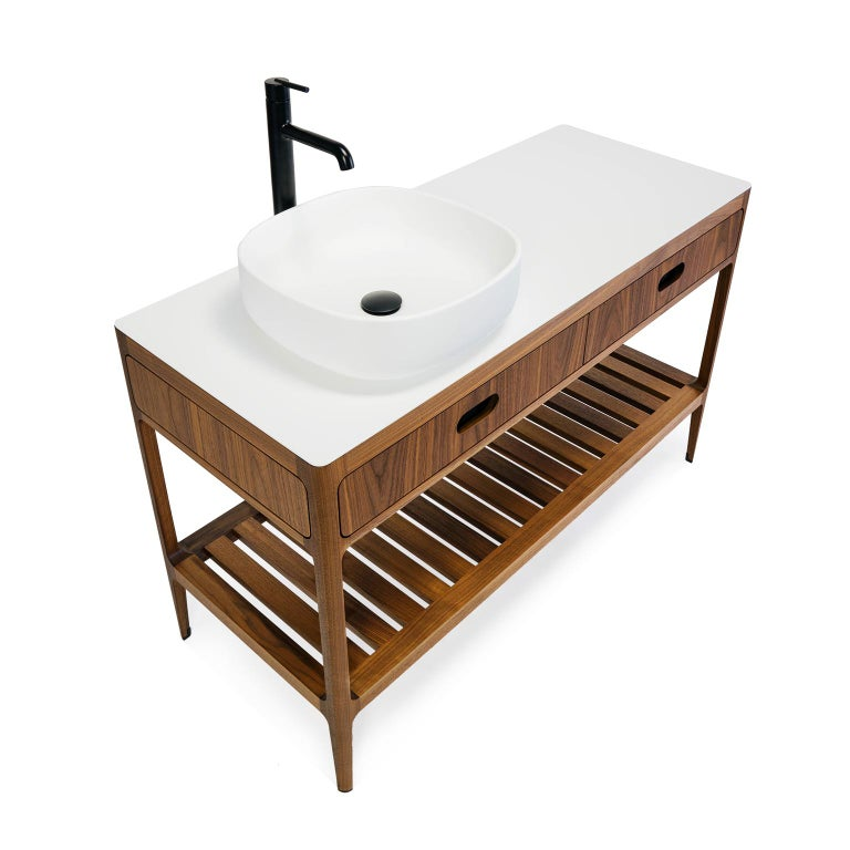 American Customizable Freestanding Vanity by Munson Furniture For Sale