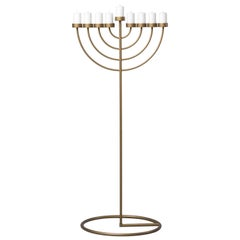 Radius Menorah, Minimalist Iconic Bronze Hanukkah Candleholder by Ivan Voitovych