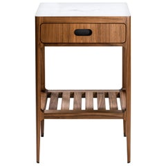 Customizable Single Drawer Side Table in Walnut by Munson Furniture