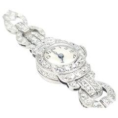 Rado 2.00 Carat Diamond and Platinum Stem Wind Wristwatch