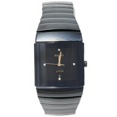Rado Black Ceramic Jubile 152.0335.3 Men's Wristwatch 30 mm