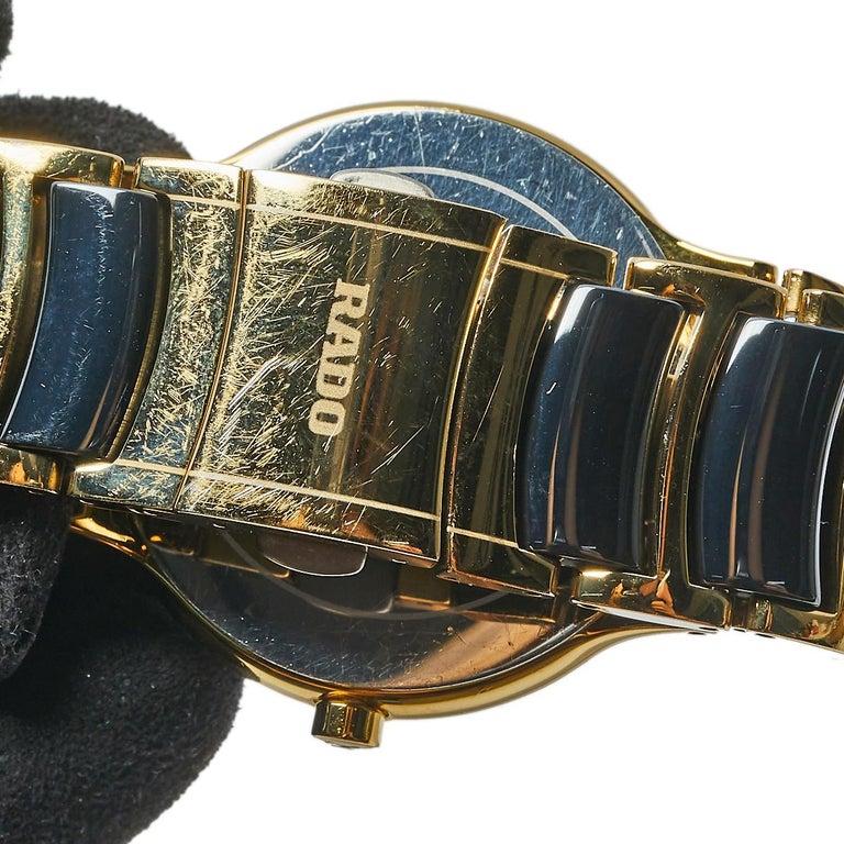 Rado Black Gold PVD Ceramic Centrix Jubile 115.0929.3 Men's Wristwatch 38 mm 4