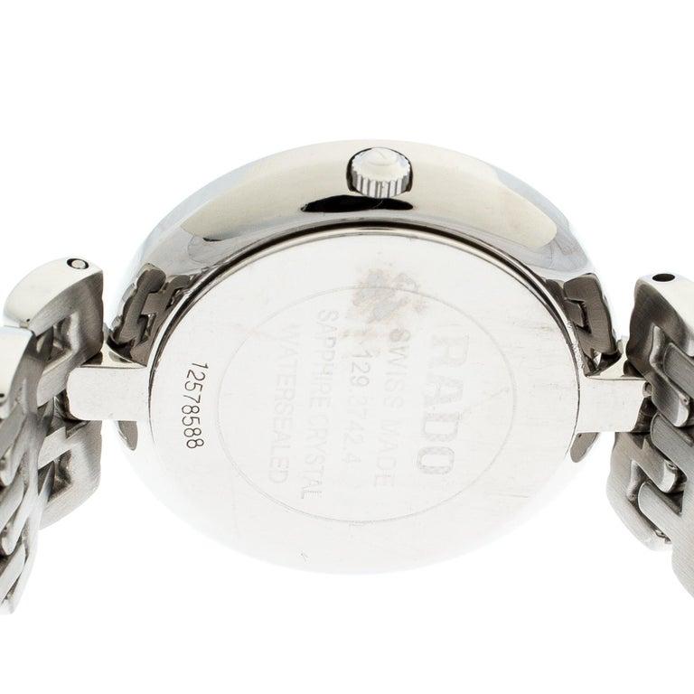 Rado Black Stainless Steel Florence 01.129.3742.4.015 Men's Wristwatch 32 mm For Sale 2