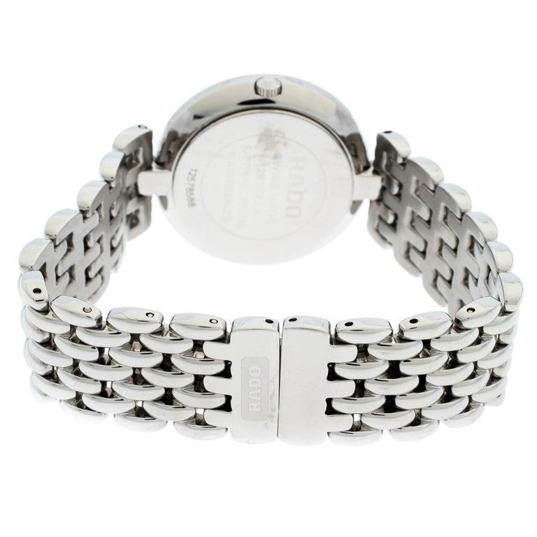 Rado Black Stainless Steel Florence 01.129.3742.4.015 Men's Wristwatch 32 mm For Sale 3