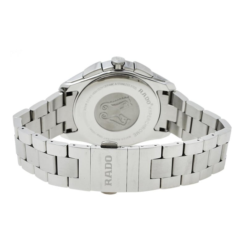 Rado Blue Stainless Steel HyperChrome R32259203 Chrono Men's Wristwatch 44 mm 1