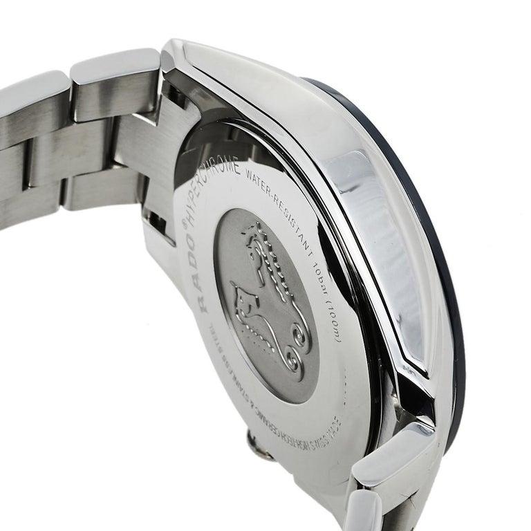 Rado Blue Stainless Steel HyperChrome R32259203 Chrono Men's Wristwatch 44 mm 2