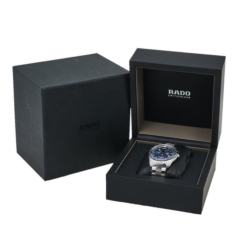 Rado Blue Stainless Steel HyperChrome R32259203 Chrono Men's Wristwatch 44 mm 4
